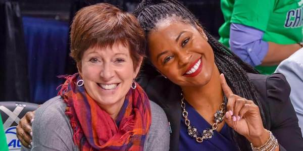 Muffet McGraw and Niele Ivey
